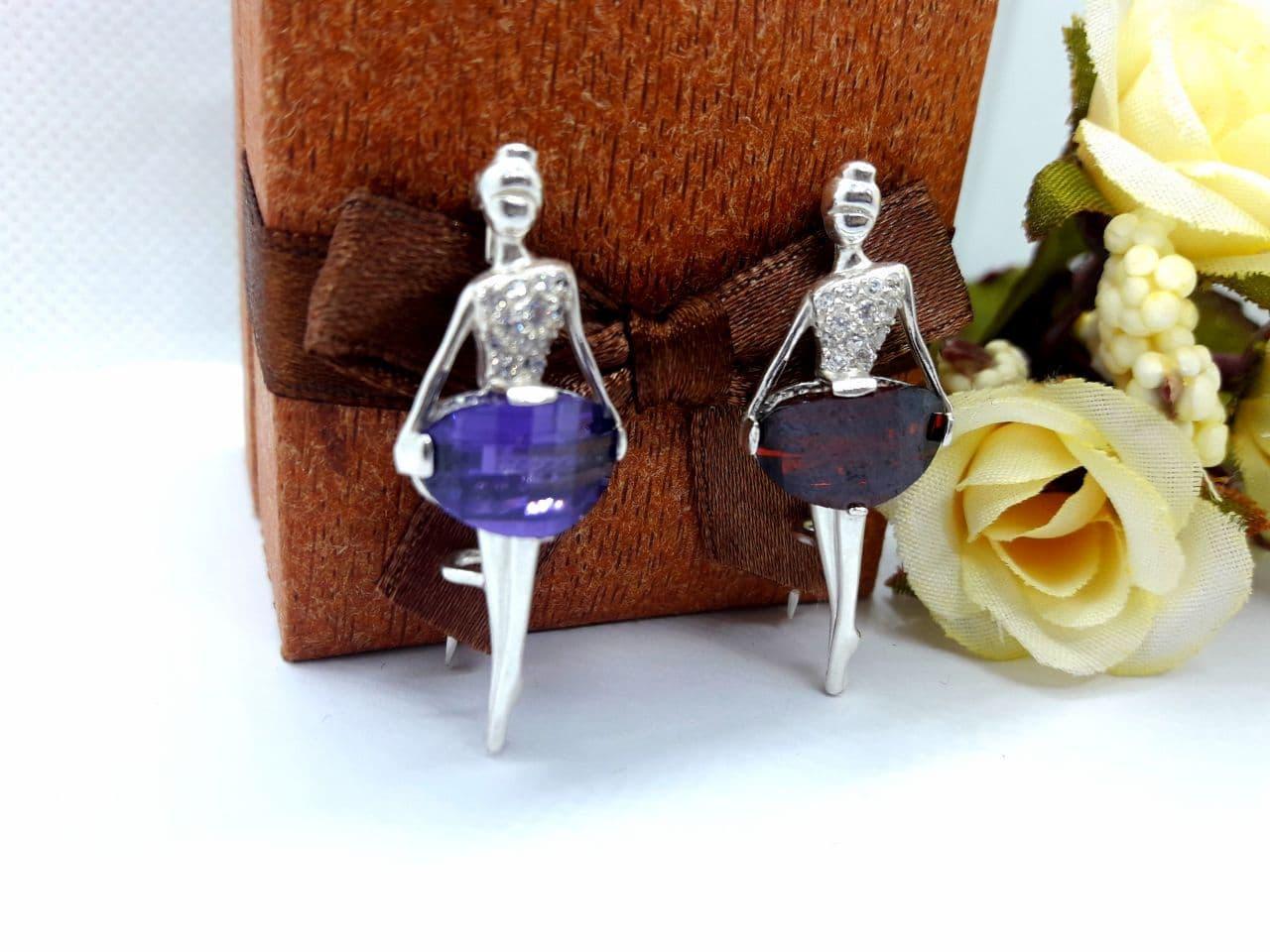 Серебрянная брошь Балерина от Ирида-В