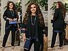 Женский нарядный костюм: свободная блуза-туника с блестящим подолом и брюки, батал большие размеры, фото 4