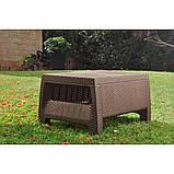 Комплект садовой мебели Allibert by Keter Corfu Set Max with Puff ( Cube with Cushion ) Brown ( коричневый ), фото 7