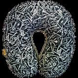Подушка для путешествий антистресс Турист, полистерольные шарики 30*30 см / tp - 181102, фото 5