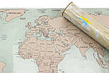 Скретч карта мира UFT Scratch World Map на английском (SK-001), фото 2