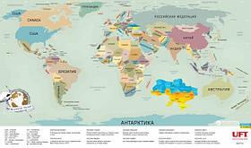 Скретч-карта світу UFT Scratch World Map російською (SK-002)