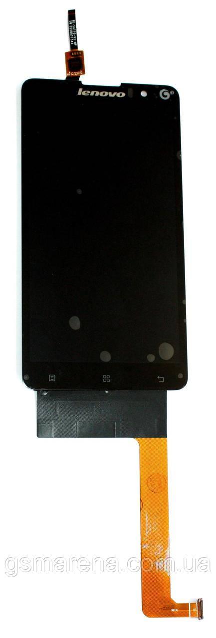 Дисплей модуль Lenovo S8 S898, S898T+ Черный