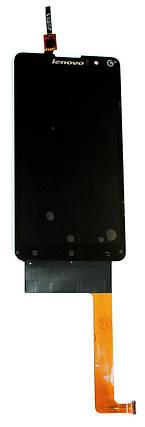 Дисплей модуль Lenovo S8 S898, S898T+ Черный, фото 2