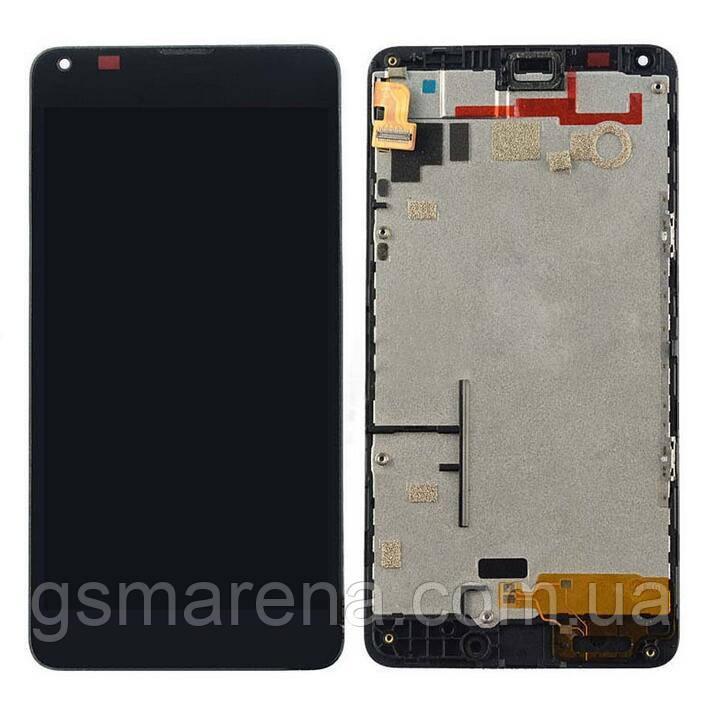 Дисплей модуль Microsoft Lumia 640 (с рамкой) Черный (RM-1075)