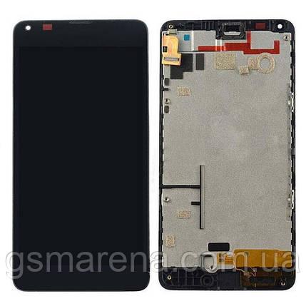 Дисплей модуль Microsoft Lumia 640 (с рамкой) Черный (RM-1075), фото 2