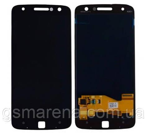 Дисплей модуль Motorola Moto Z XT1650 Черный, фото 2