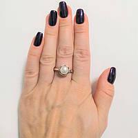 Кільце з срібла, золота і перлів Сюзана, фото 1