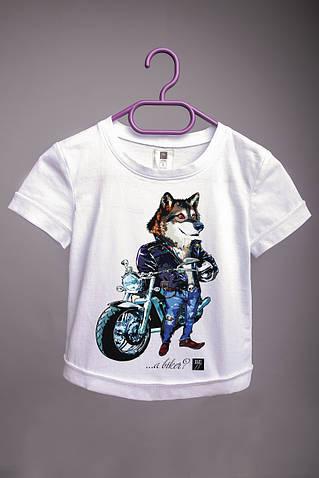 Детская футболка с принтом Волк