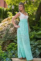 """Нарядное летнее платье в пол """"Moris"""" с карманами и вырезом декольте (6 цветов)"""