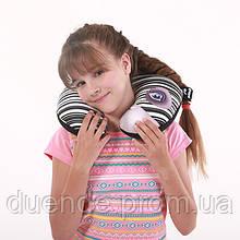 Подголовник дорожный Зебра антистресс, полистерольные шарики, размер 35*35см / tp - 180519