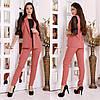 Женский деловой костюм двойка: классические брюки и длинный жилет без рукавов, норма и батал большие размеры, фото 2