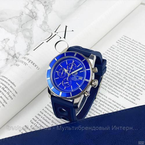 Годинники чоловічі наручні Breitling A23870 Chronographe Blue-Silver / репліка ААА класу
