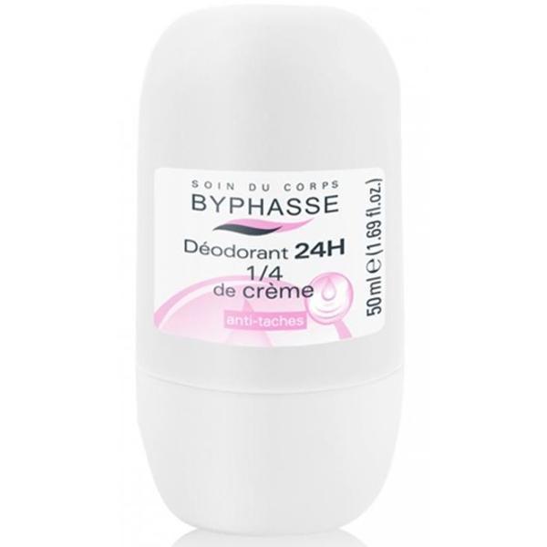 Byphasse 24h Deodorant 1/4 of Cream Дезодорант роликовый дезодорант 50 мл