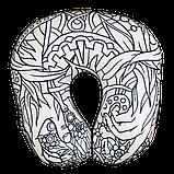 Арт-подушка дорожная антистресс раскраска, полистерольные шарики, размер 35*40см / tp - 180608\9, фото 2