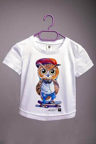 Детская футболка с принтом Филин