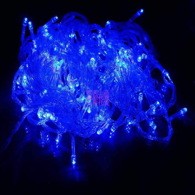 LED гирлянда 8 режимов 10м 100LED теплый свет