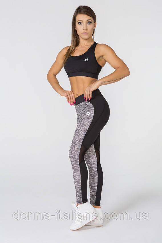 Женский спортивный костюм для фитнеса Radical Caress S Черно-серый (r0178)