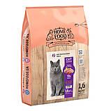Home Food CAT ADULT корм для крупных кошек британских пород «Индейка и телятина» 400гр, фото 3