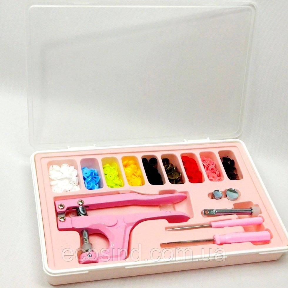 Набор для установки пластиковых кнопок Sindtex розовый (СИНДТЕКС-0777)