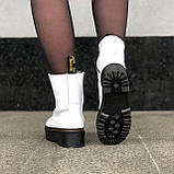 🔥 Ботинки женские высокие зимние Dr. Martens Jadon белые кожаные кожа теплые термо, фото 2
