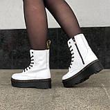 🔥 Ботинки женские высокие зимние Dr. Martens Jadon белые кожаные кожа теплые термо, фото 3