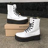 🔥 Ботинки женские высокие зимние Dr. Martens Jadon белые кожаные кожа теплые термо, фото 8