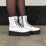 🔥 Ботинки женские высокие зимние Dr. Martens Jadon белые кожаные кожа теплые термо, фото 4