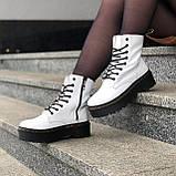 🔥 Ботинки женские высокие зимние Dr. Martens Jadon белые кожаные кожа теплые термо, фото 6