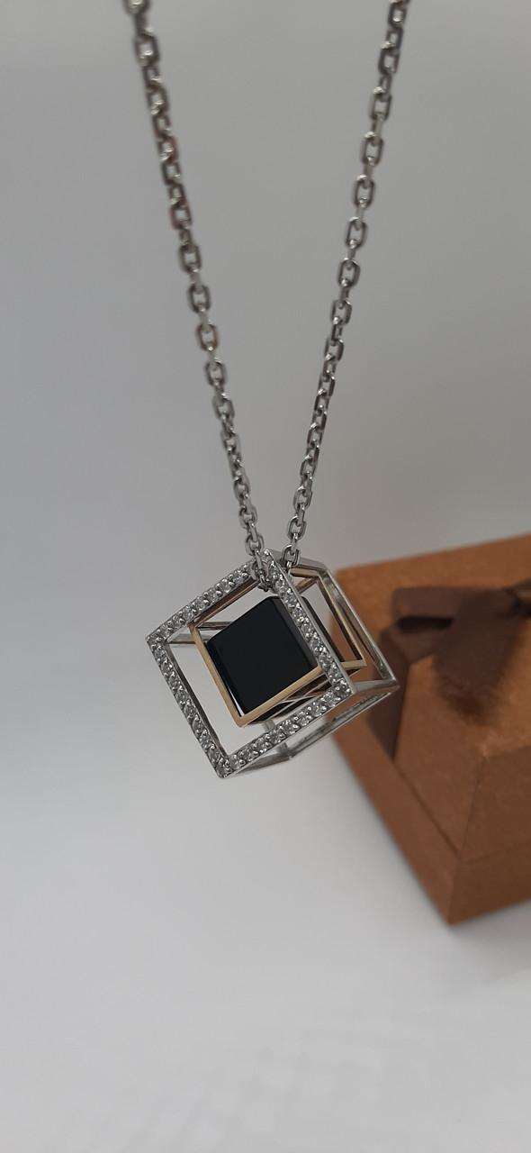 Серебрянное колье Кубик от Ирида-В