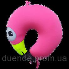 Подушка дорожная рогалик антистресс, полистерольные шарики 37*40 см / tp - 18060