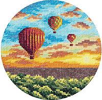 """Набор для вышивки крестом Panna ПС-7059 """"Воздушные шары на закате"""""""