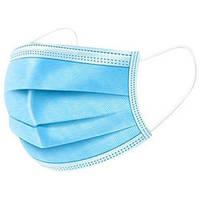 Защитная маска трехслойная Медицинская для лица, голубая