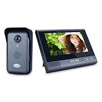 Беспроводной видеодомофон с датчиком движения, c монитором Kivos KDB702+ Черный