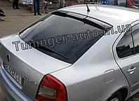 Задній козирок, спойлер скла Skoda A5 2004-2012 (ANV), фото 1