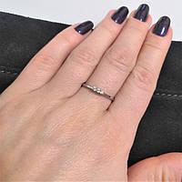 Кольцо из серебра родированное с цирконием Веста, фото 1
