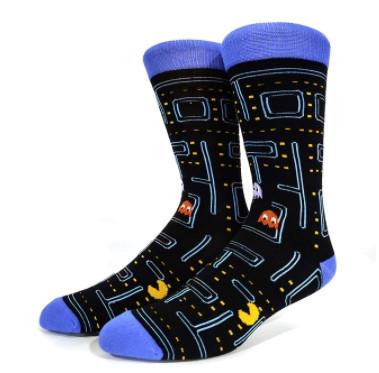 Прикольні високі чоловічі шкарпетки з принтом Pac Man