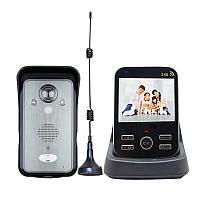 Беспроводной видеодомофон с датчиком движения, с монитором Kivos KDB302A+ Черный