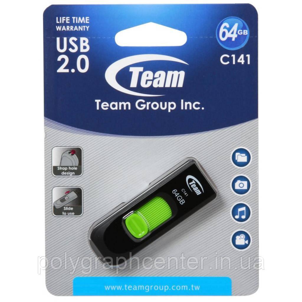 Флеш-накопитель USB 64Gb Team C141 Green
