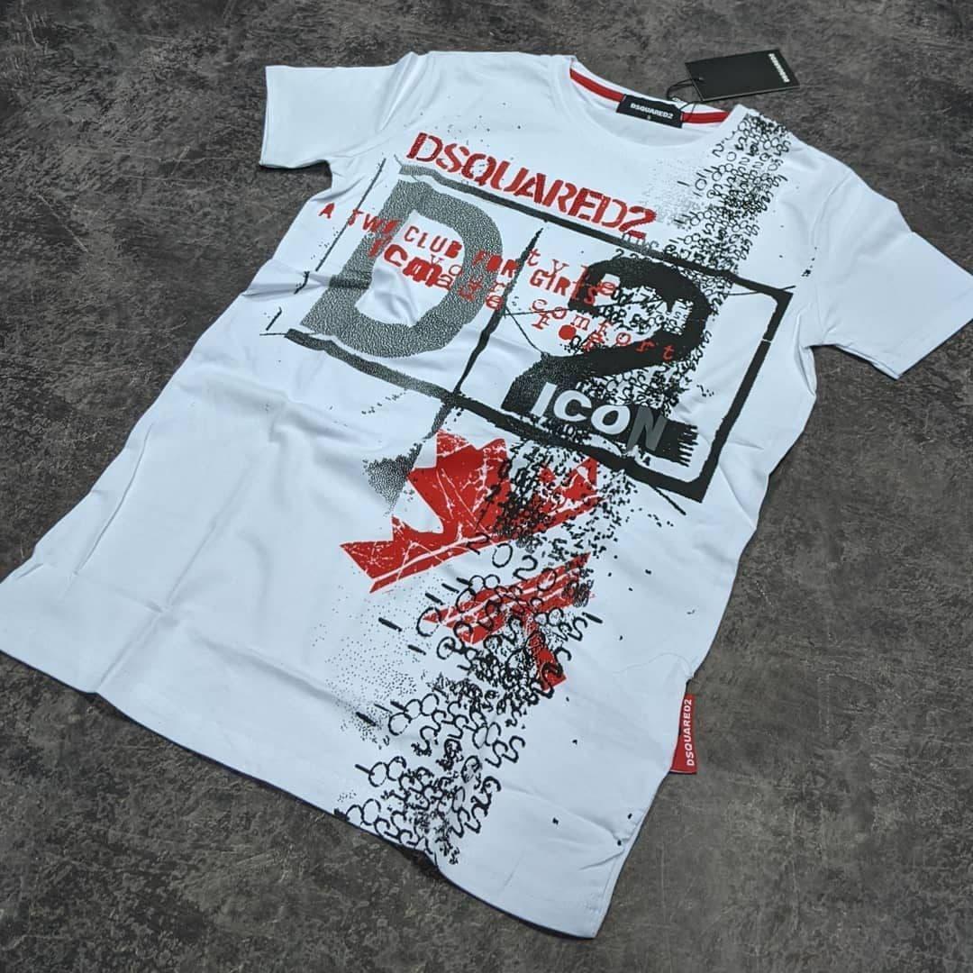 Мужская футболка Dsquared2 CK1618 белая