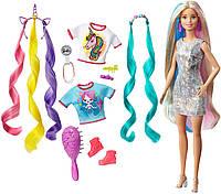 Barbie Кукла Барби - единорог и русалка Фантазийные образы - Barbie GHN04 Fantasy Hair блондинка, фото 1