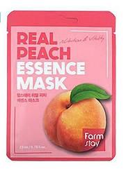 Маска для лица FarmStay Real Peach тканевая освежающая с экстрактом персика 23 мл
