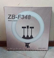 Кольцевая LED лампа RING LIGHT ZB-F348 диаметром 45см с пультом и 3 держателем