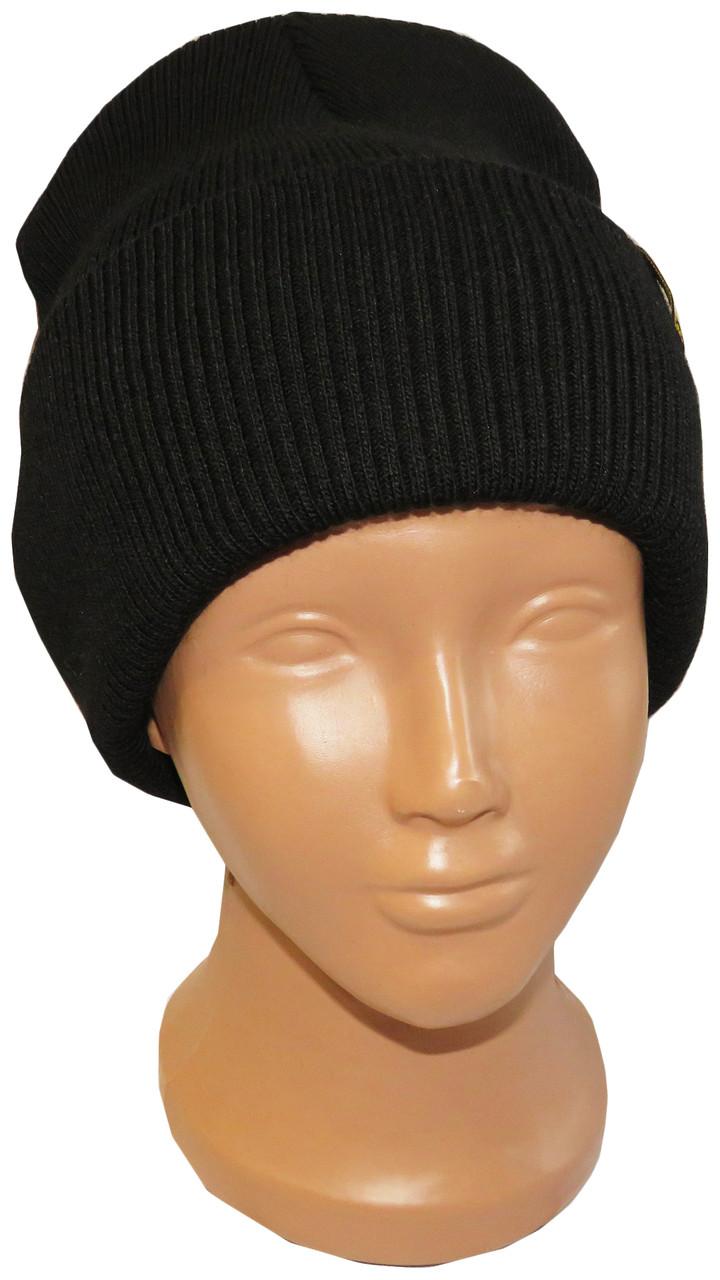Плотная полушерстяная шапка Nord Neo черного цвета