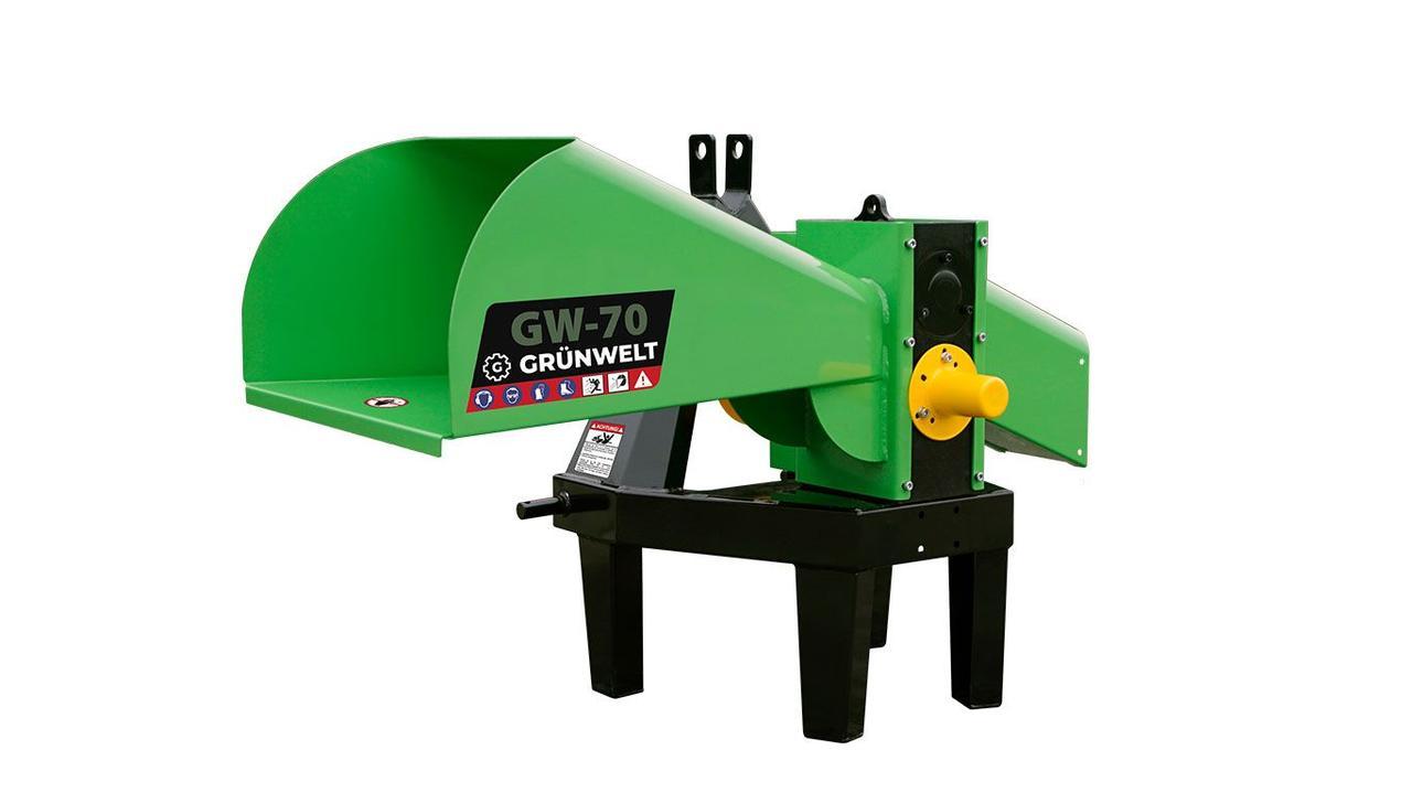 Измельчитель веток GrunWelt GW-70-4 (55 мм, 4 ножа, 10 л.с., ВОМ)