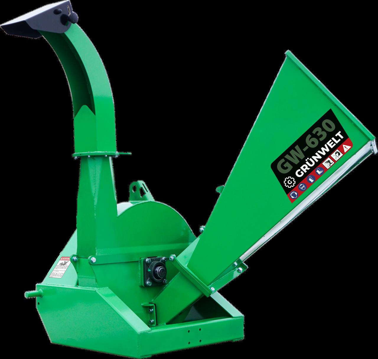 Щепорез GrunWelt GW-630 (120 мм, 4 ножа, ВОМ, 25 л.с.)