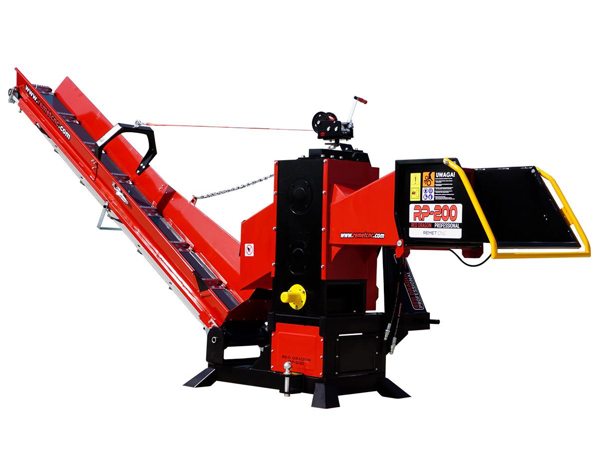 Измельчитель веток Remet RP-200+ транспортер 3 м (160 мм, 8 ножей, BOM)