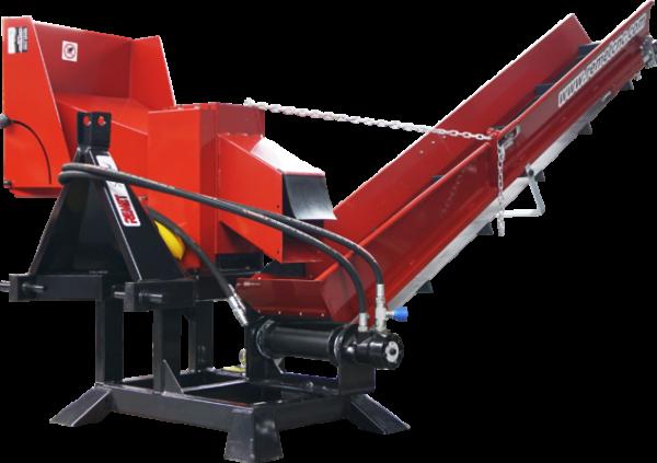 Измельчитель веток Remet R-120+транспортер 2,3 м (110 мм, 6 ножей, 25 л.с., BOM, транспортер)