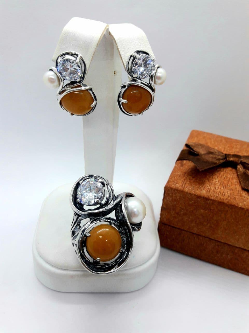 Комплект серебряных украшений Триада от Ирида-В