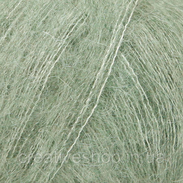 Пряжа Drops Kid Silk (цвет 34 sage green)